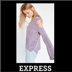 🦋Express Plush Chenille Cold Shoulder Sweater